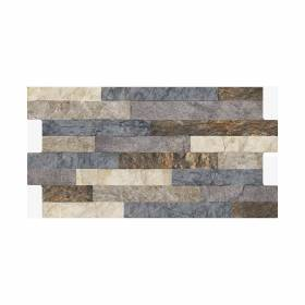 Fachaleta Tunjo multicolor caras diferenciadas 34.5x62 (1.61 MTS) Corona - 1